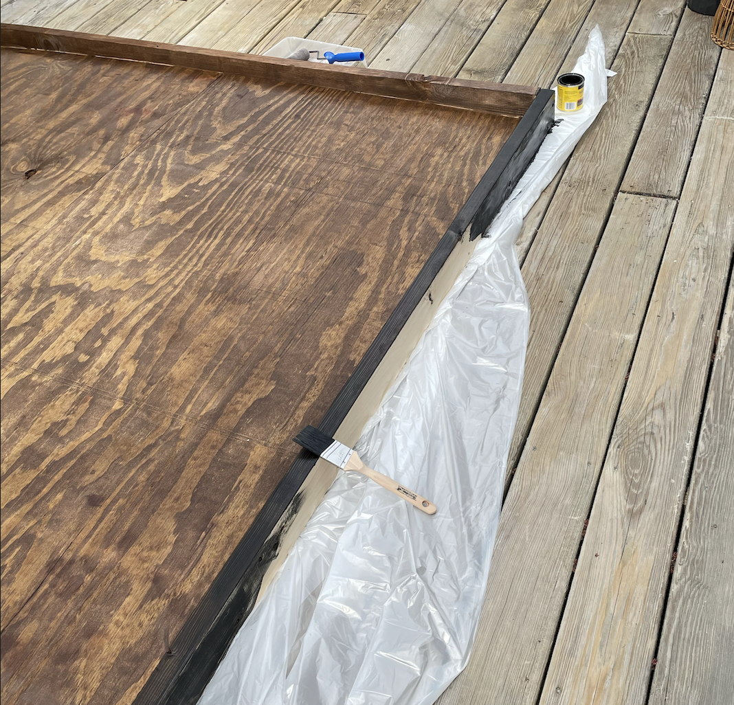 Using Min Wax stain in Early American and Ebony.