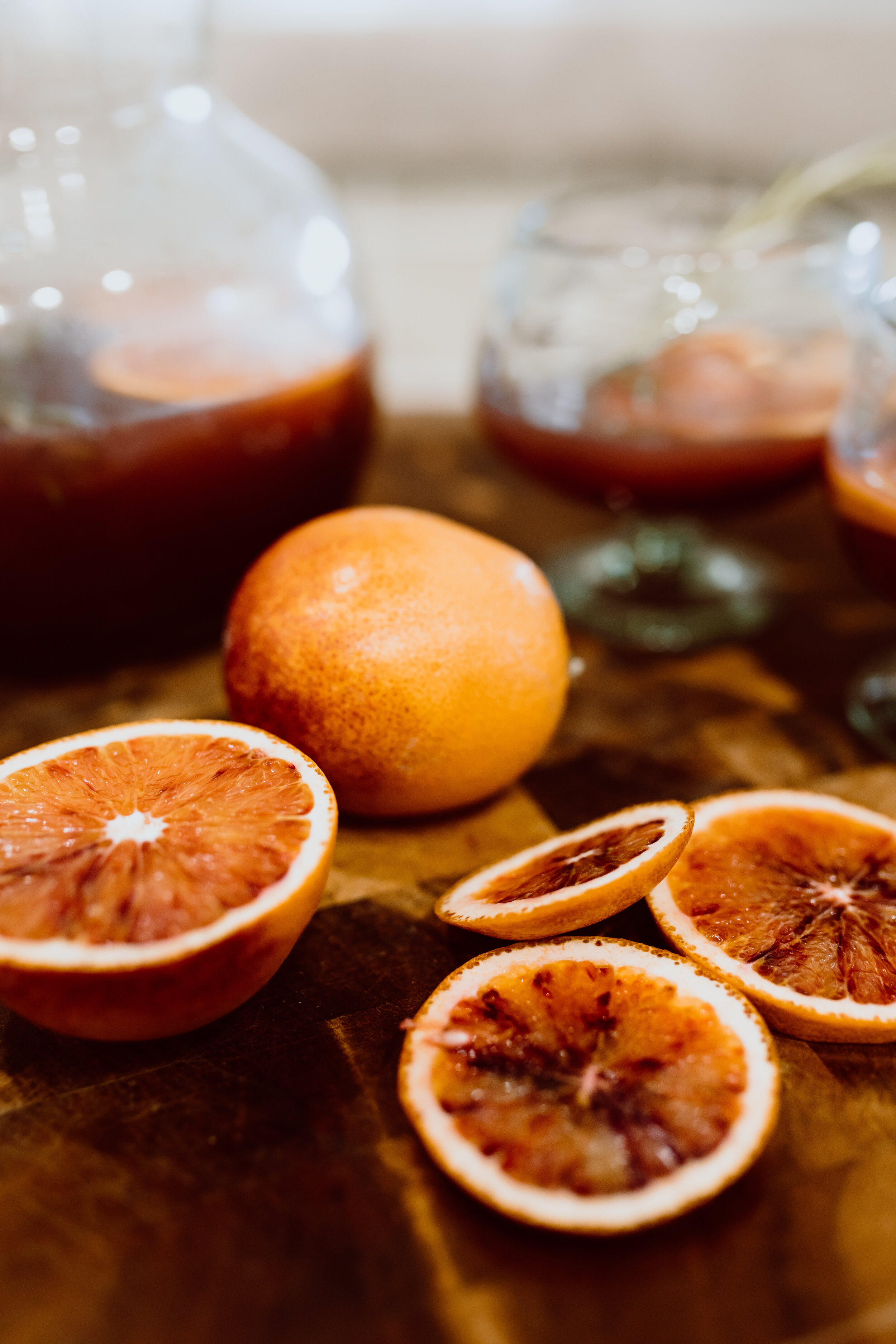 How to make White Wine Sangria with Blood Oranges