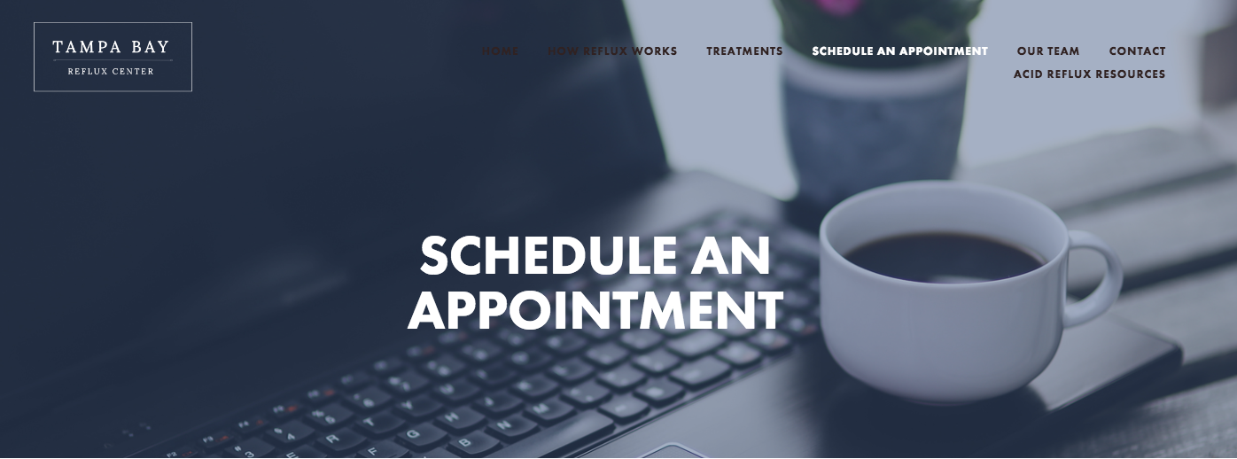 schedule an appointment at tampa bay reflux center
