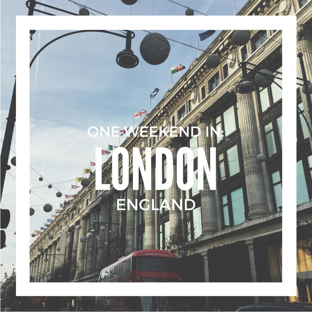 One Weekend In_ London