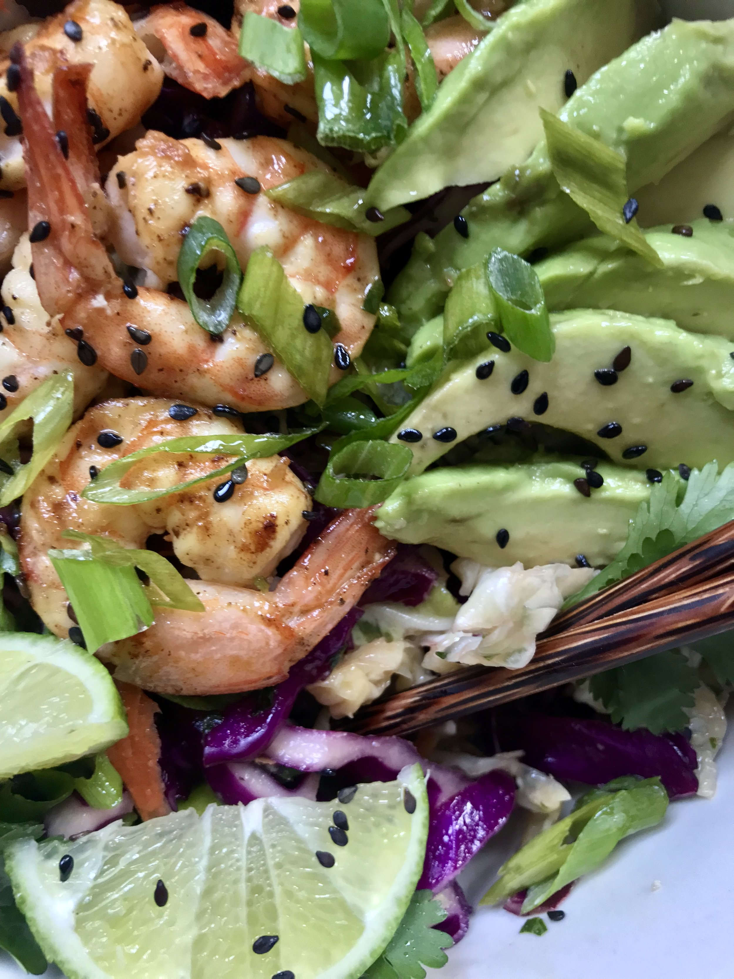 Shrimp Salad with Sesame Cilantro Vinaigrette