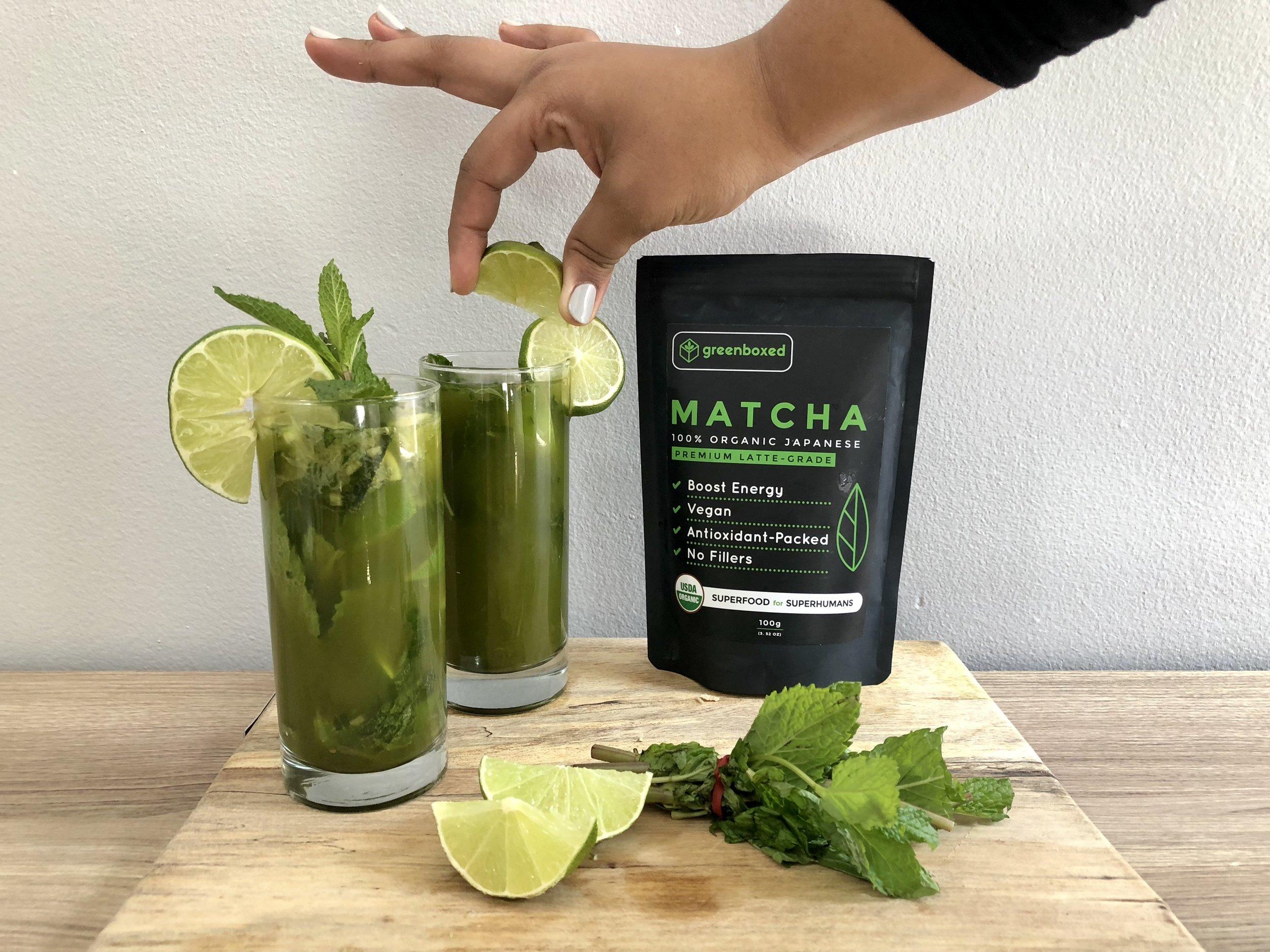 Matcha Ginger Zinger Drink from Tati Chin