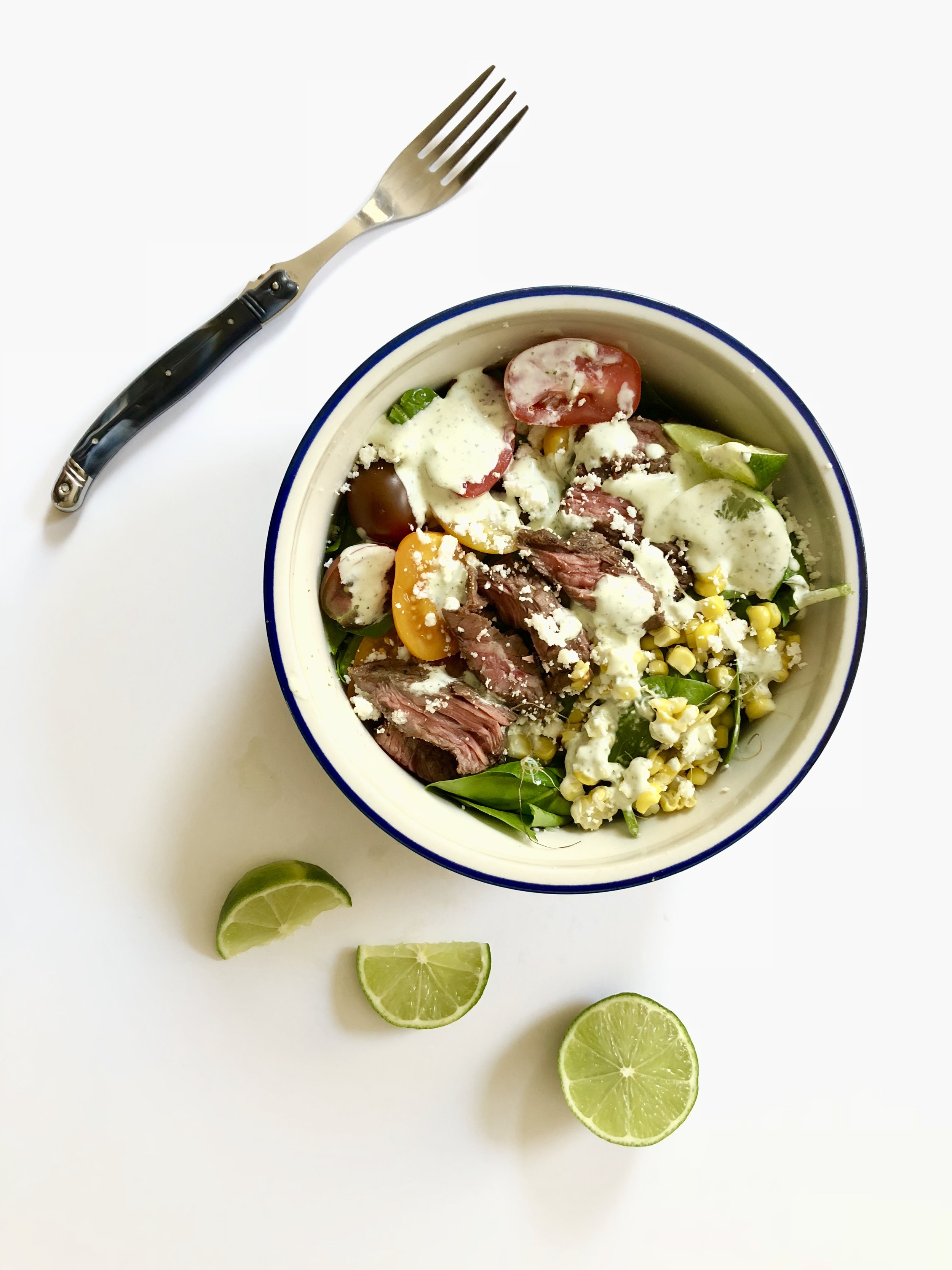 Sous Vide Chipotle-Infused Flap Steak Dinner Salad