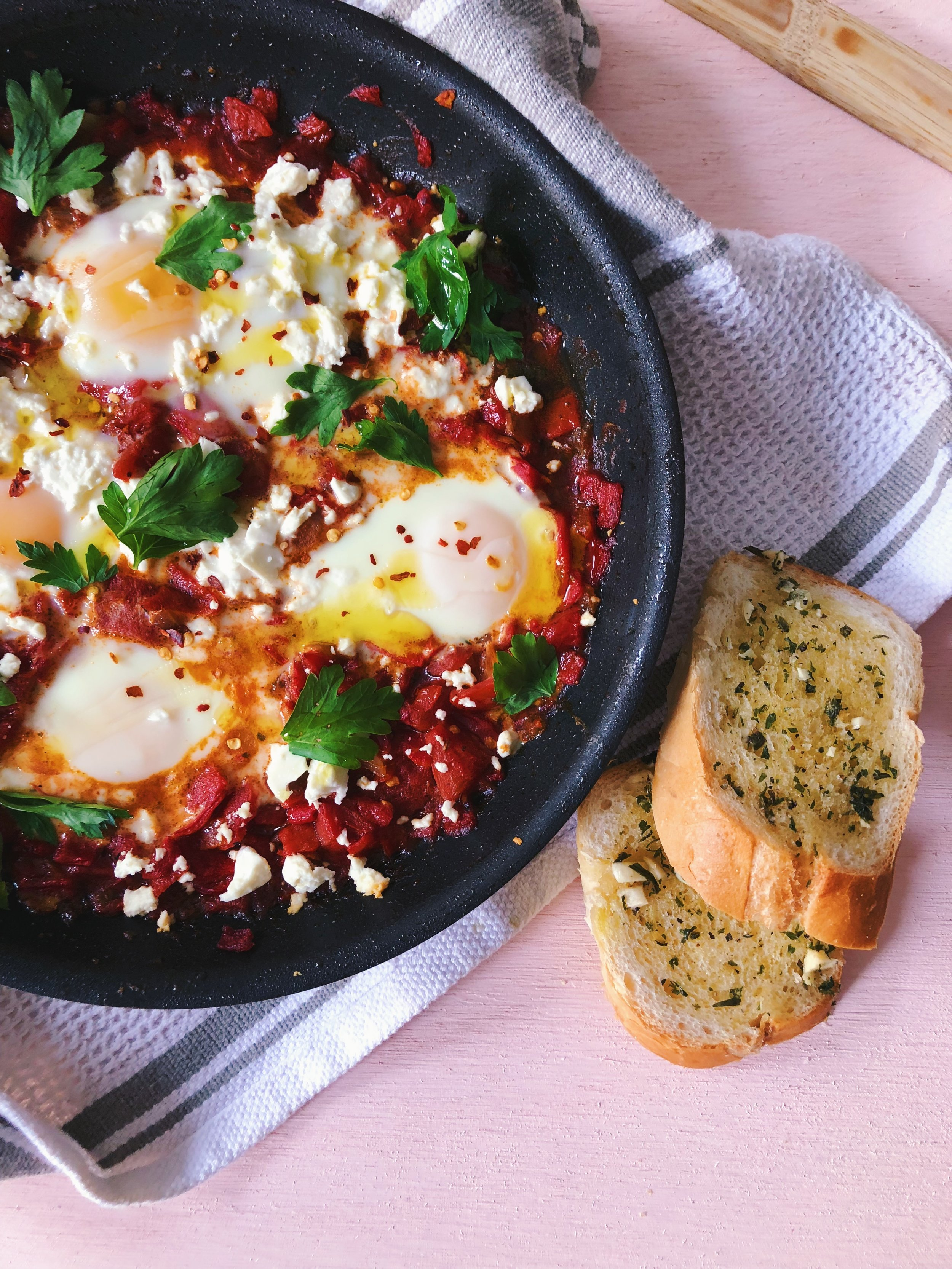 Spanish-Inspired Piquillo Pepper Shakshuka
