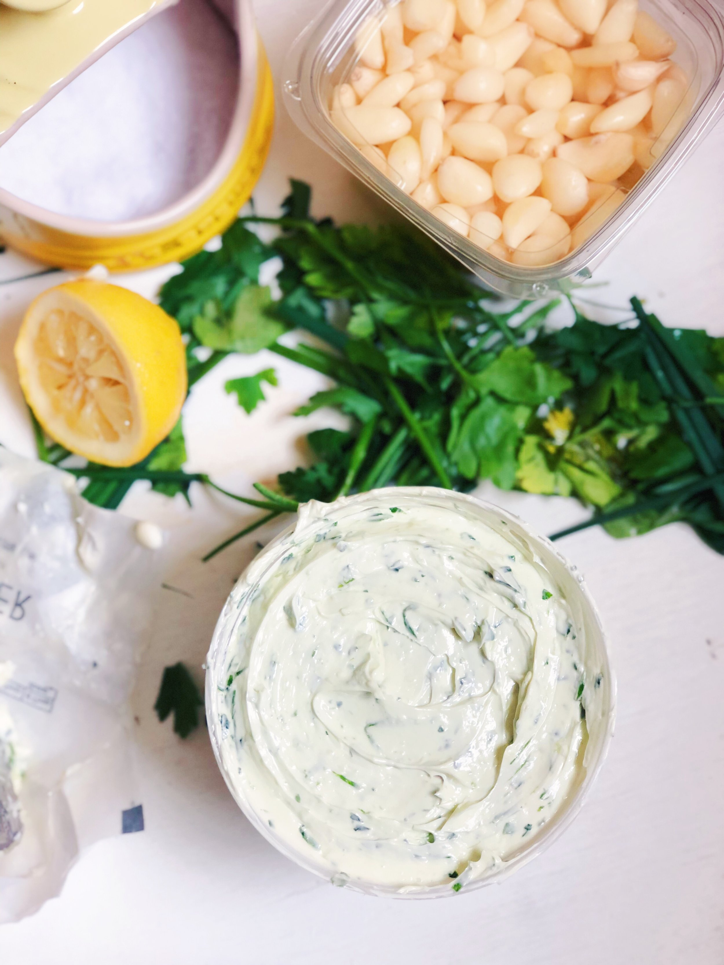 5-Ingredient Whipped Herb Butter