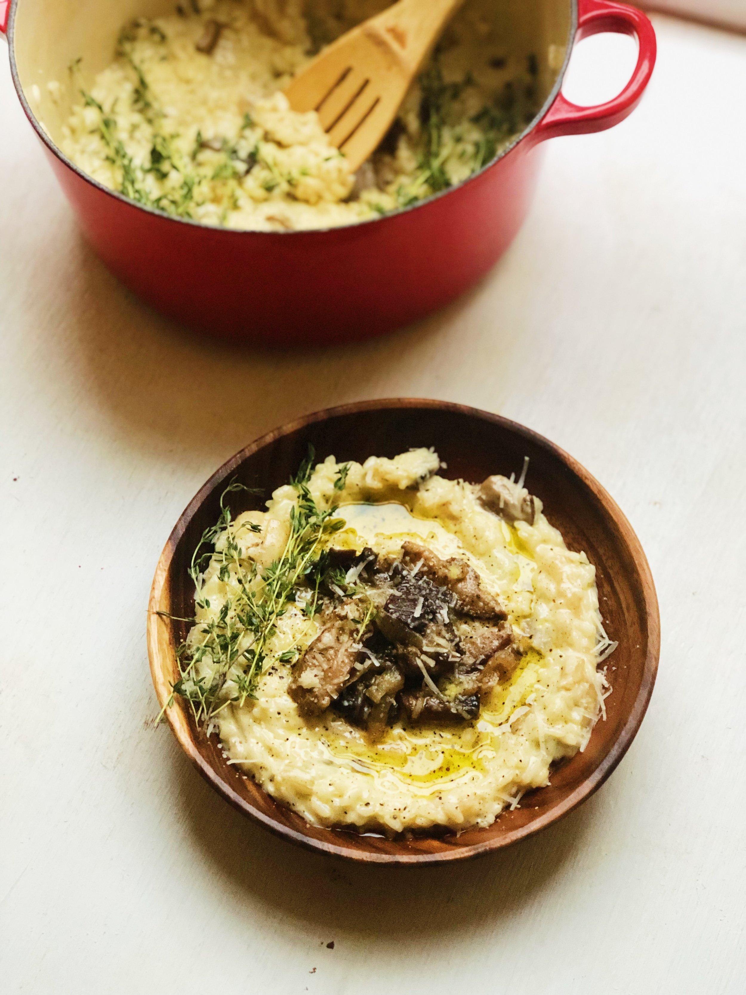 Wild Mushroom Risotto | recipe from tatichin.com