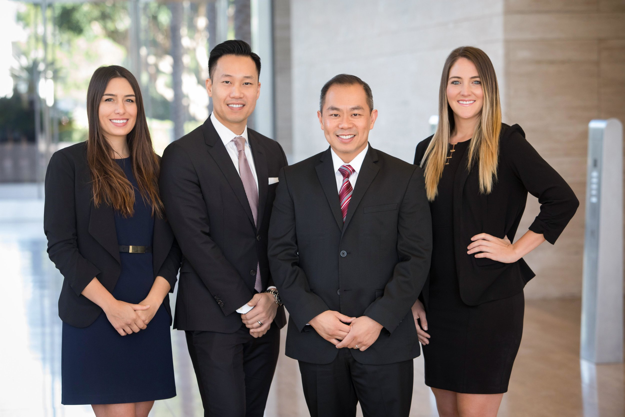 Professional corporate headshot and team photography for Merrill Lynch financial advisors and directors men and women.
