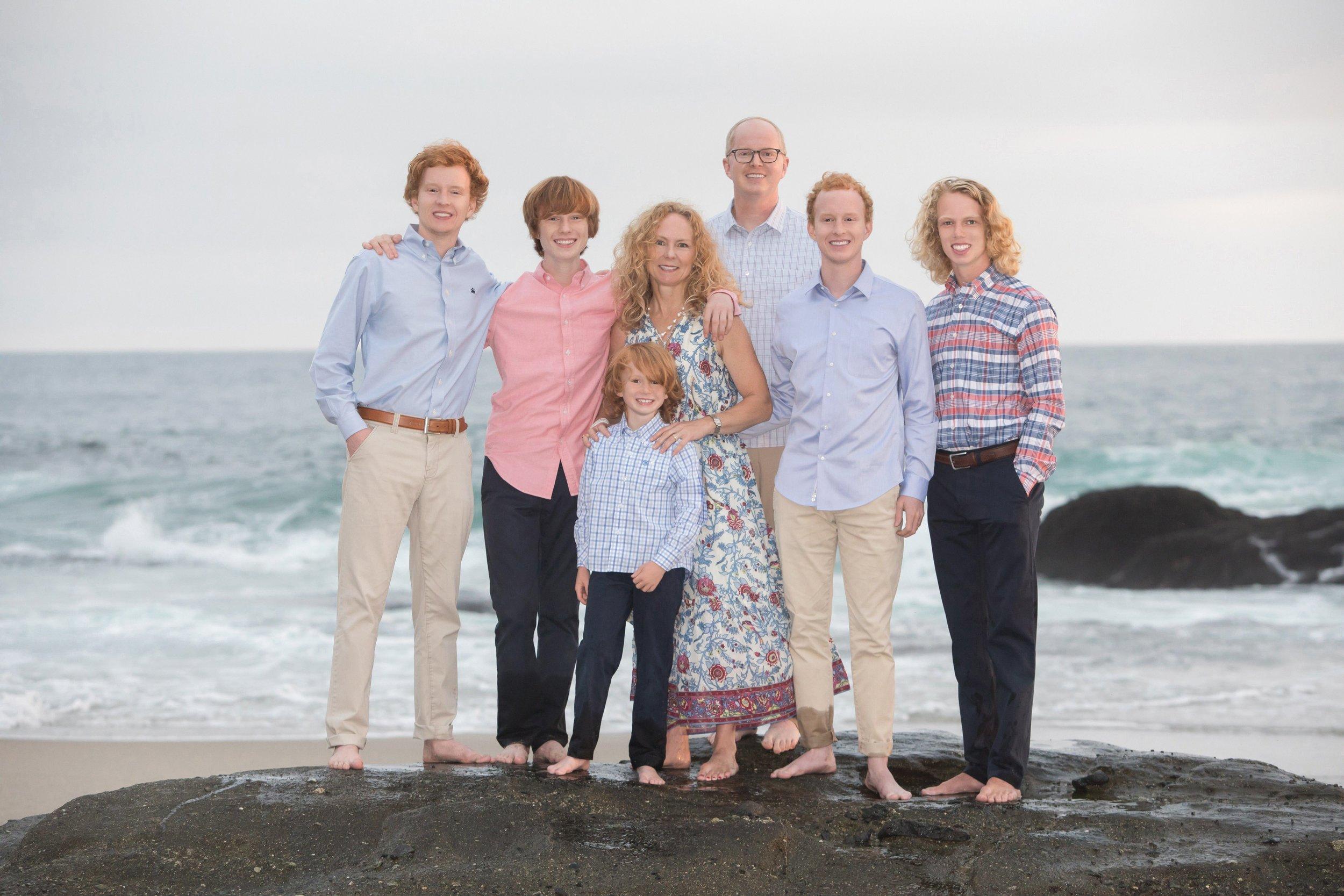 Family Portraits at the beach - Laguna Beach, CA