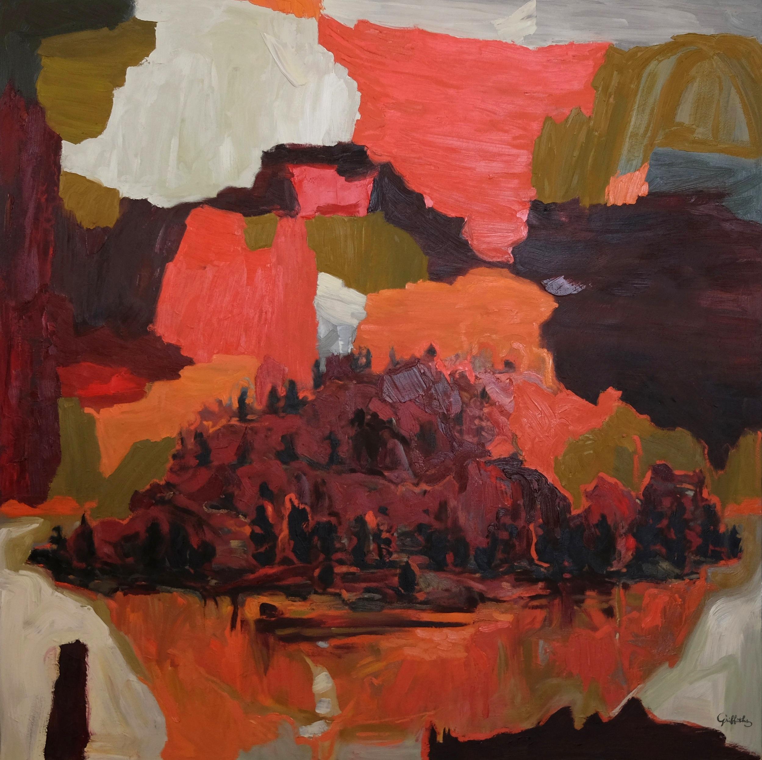 "SPOKANE TREES | oil on canvas | 48"" x 48"""