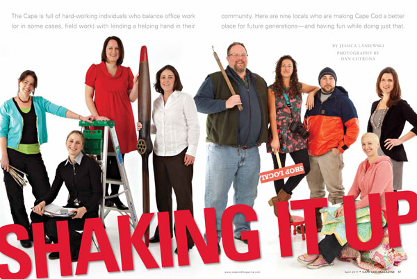 """Shaking It Up"" article :: Cape Cod Magazine, April 2011"
