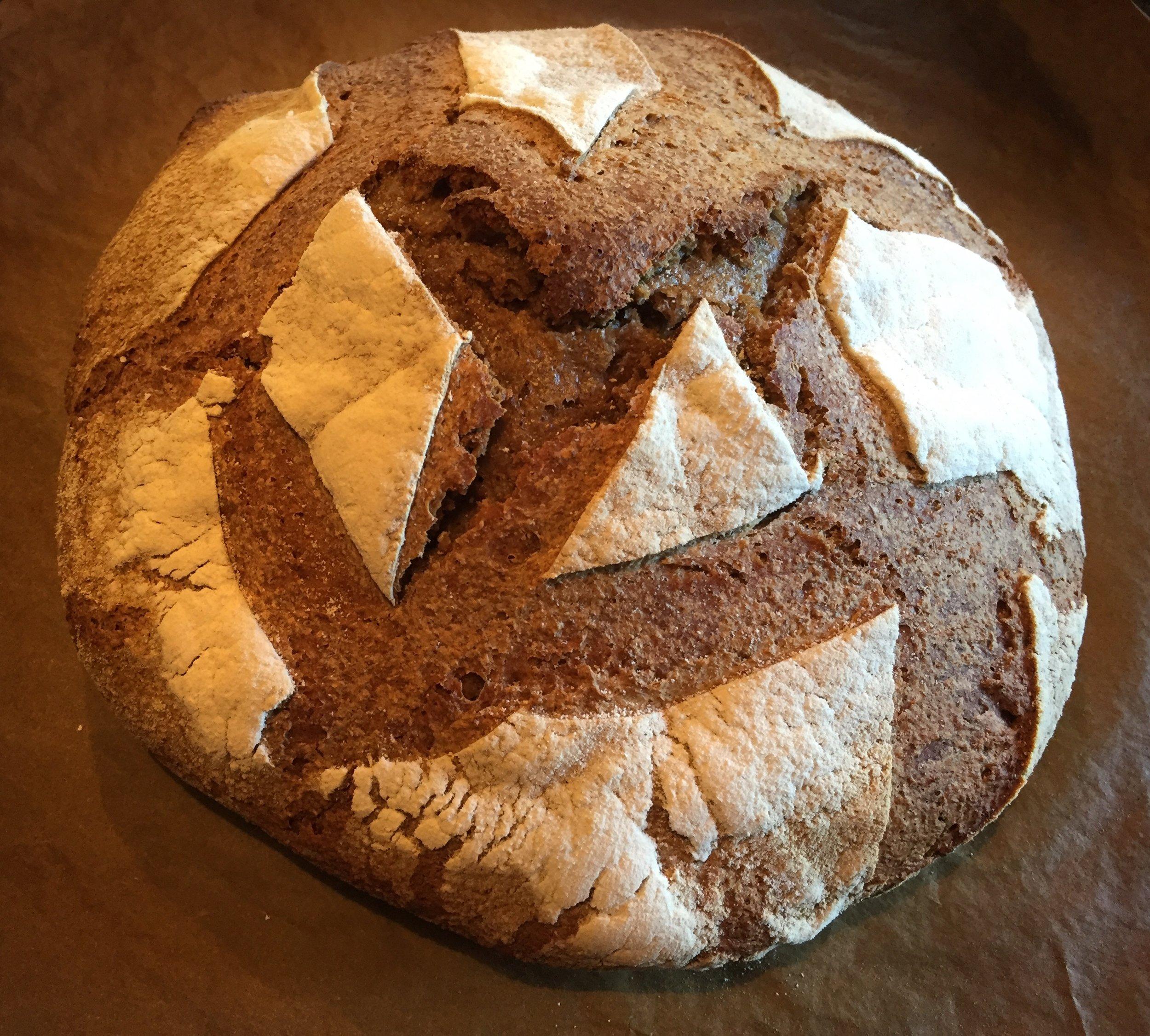 Sourdough bread.  It was delicious!