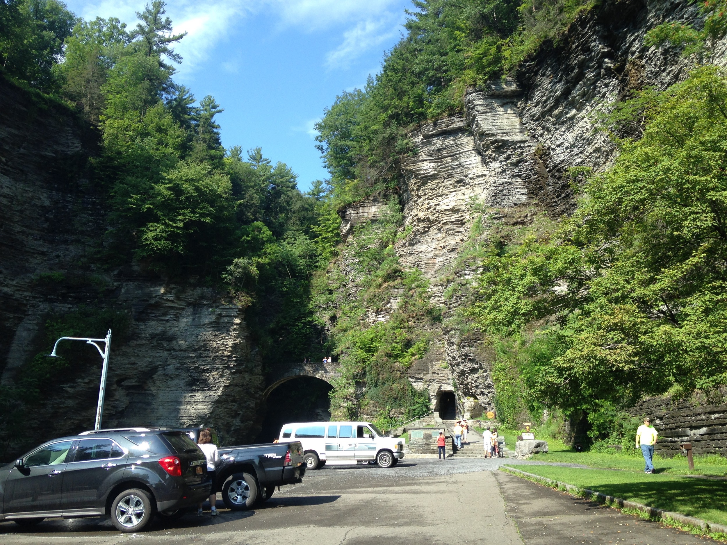 A view of the entrance to Watkins Glen!
