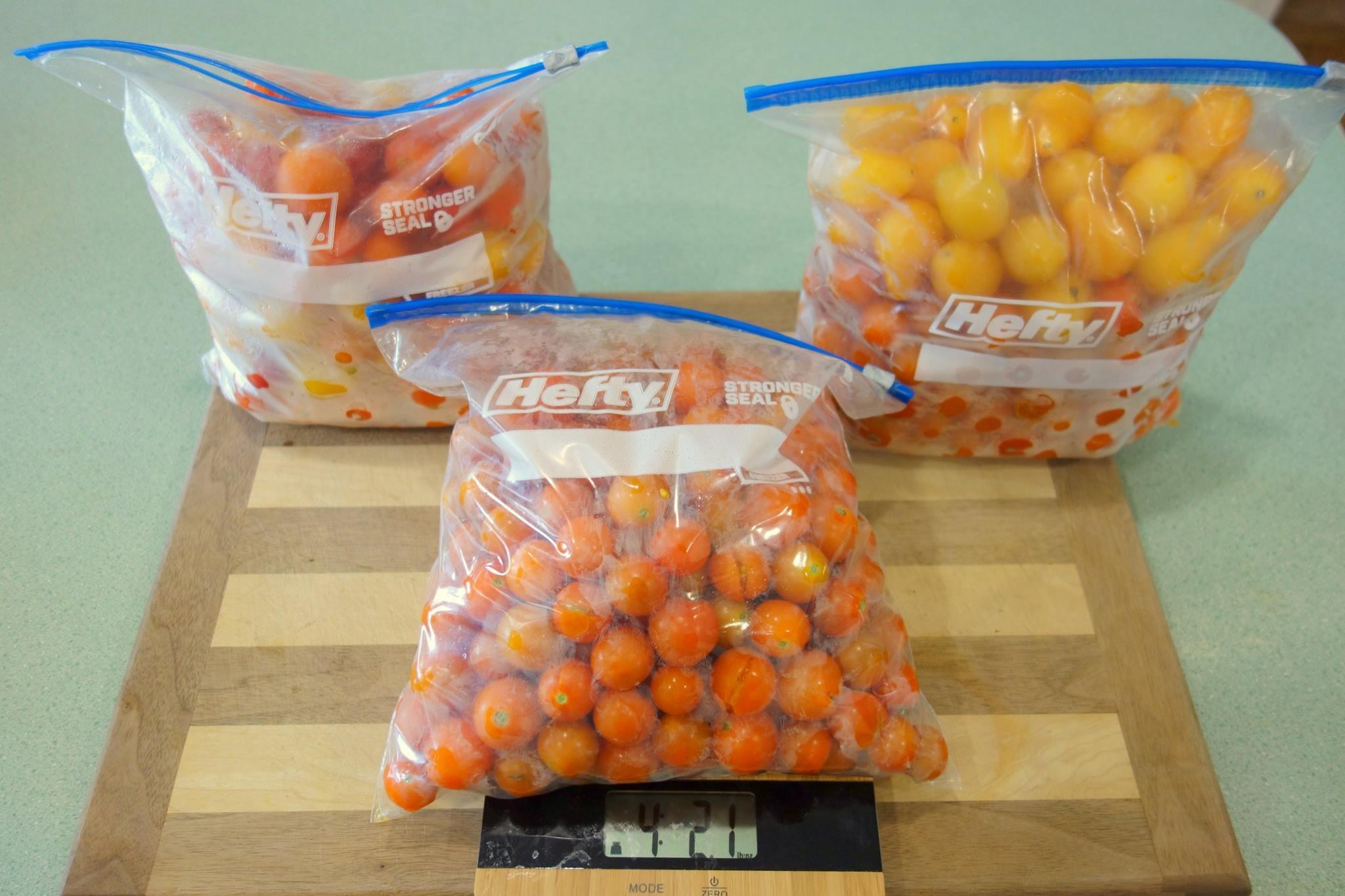 Farmer Fred's recent tomato harvest!