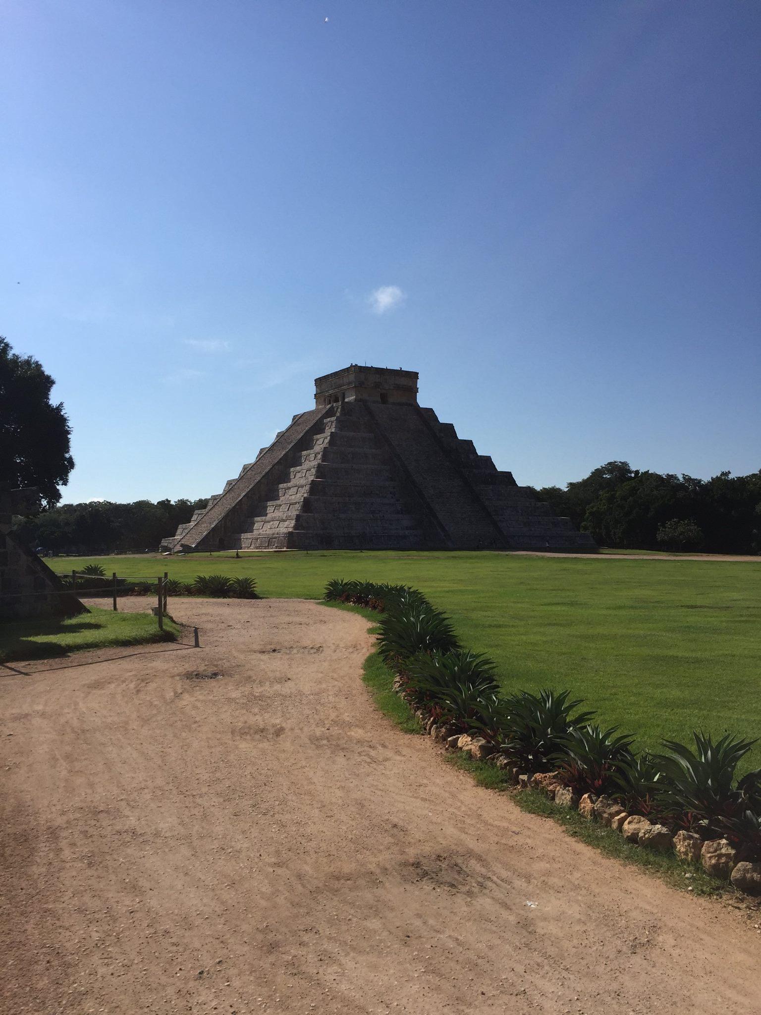 Distant view of El Castillo