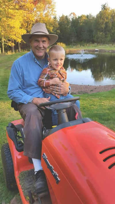 Farmer Fred and his grandson - enjoying life on a WFPB diet!