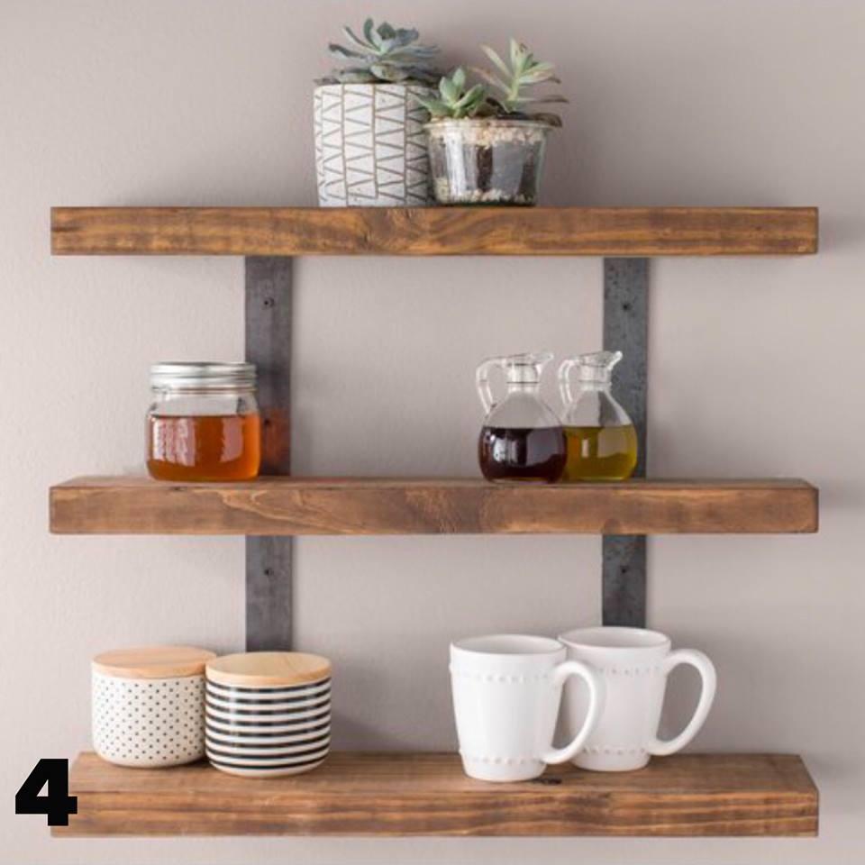 Wayfair rustic wood shelves