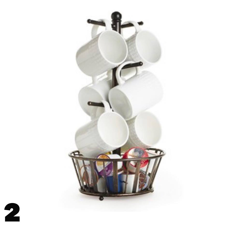 Mug rack for K-cups