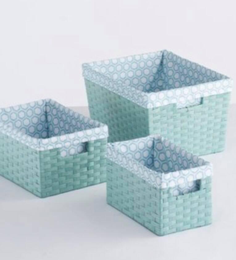 Kohls Baskets aqua