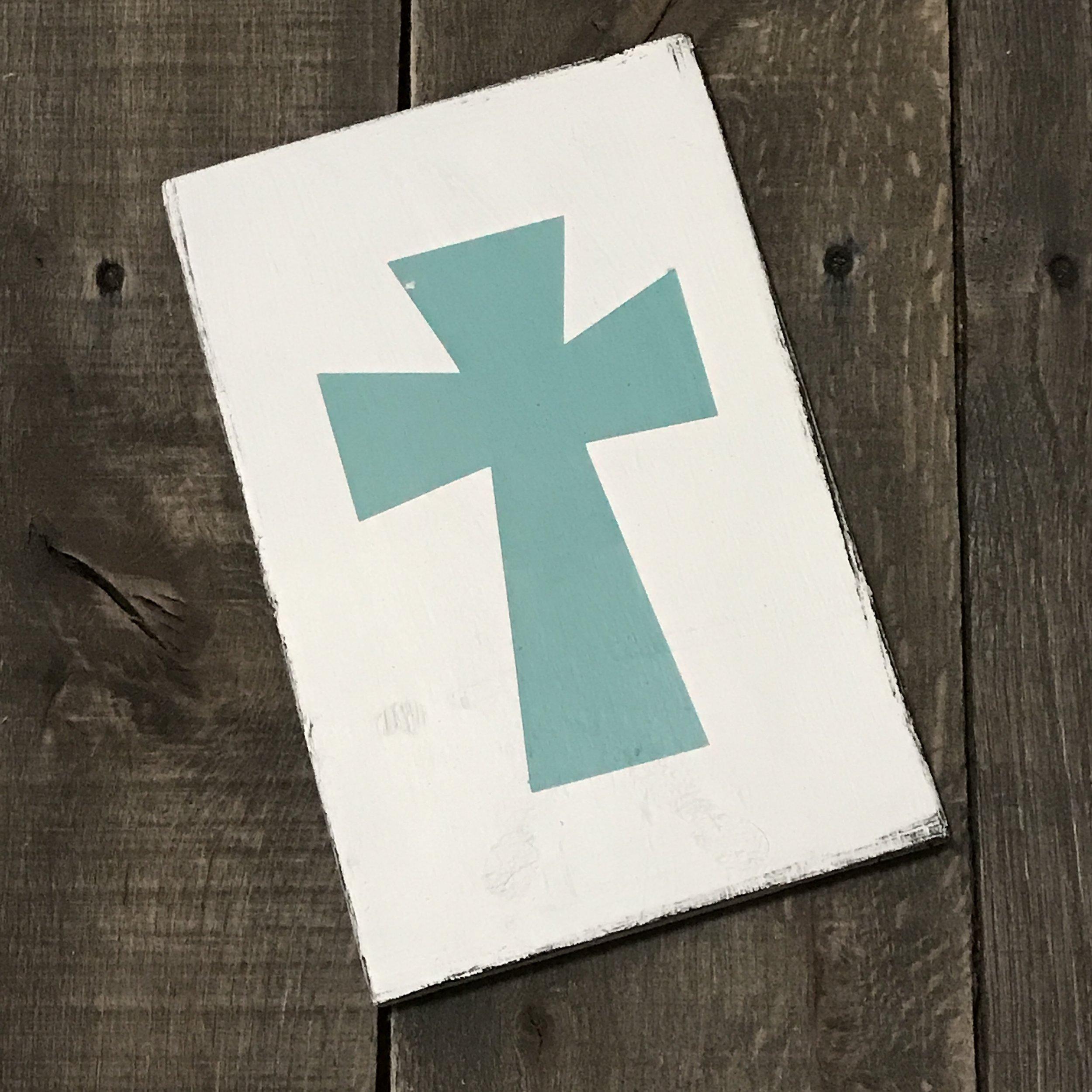 Copy of Aqua Cross sign
