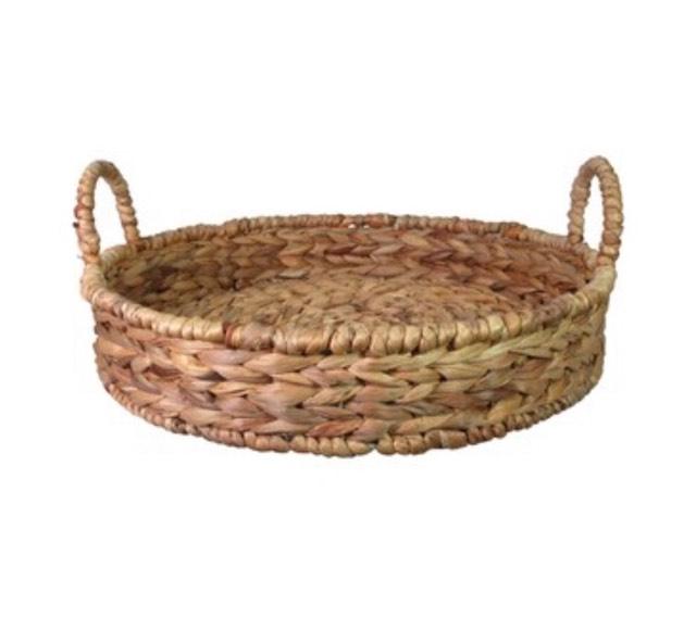 Round Sea Grass Tray