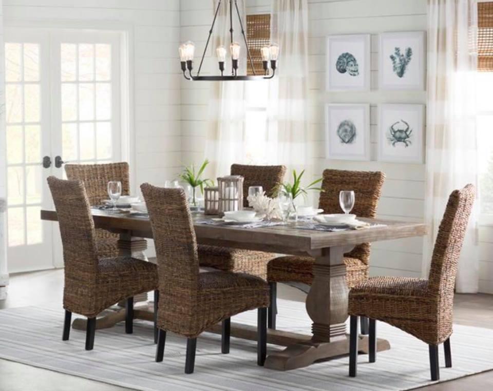 Elegant farmhouse table