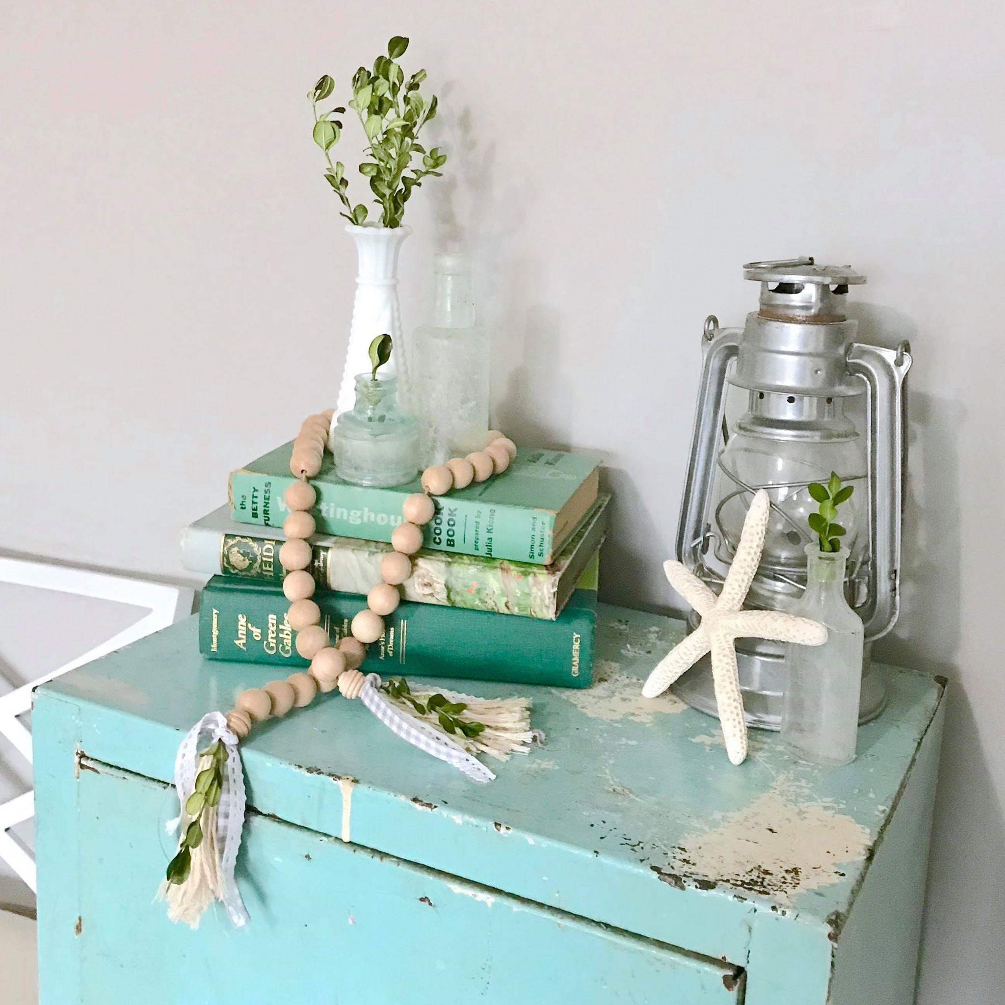 vintage green book stack.jpg