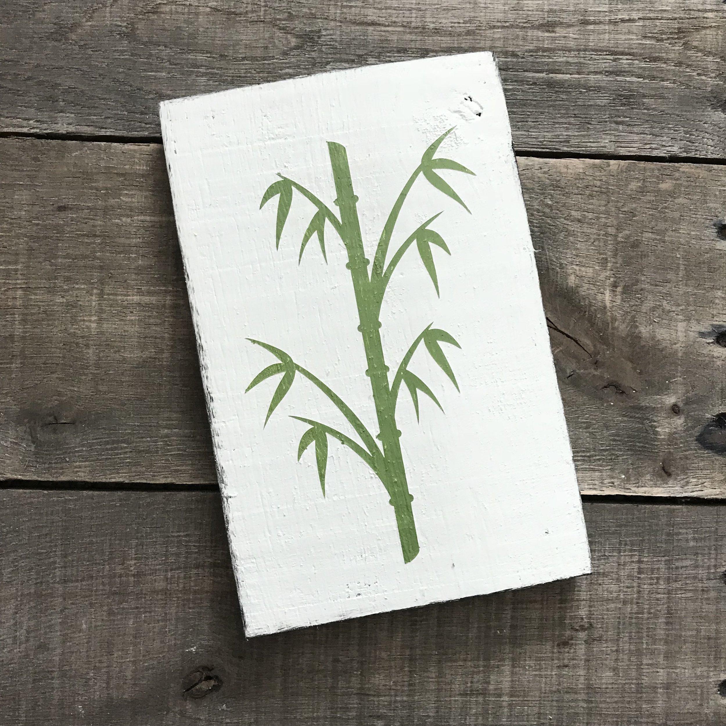 Green Bamboo sign
