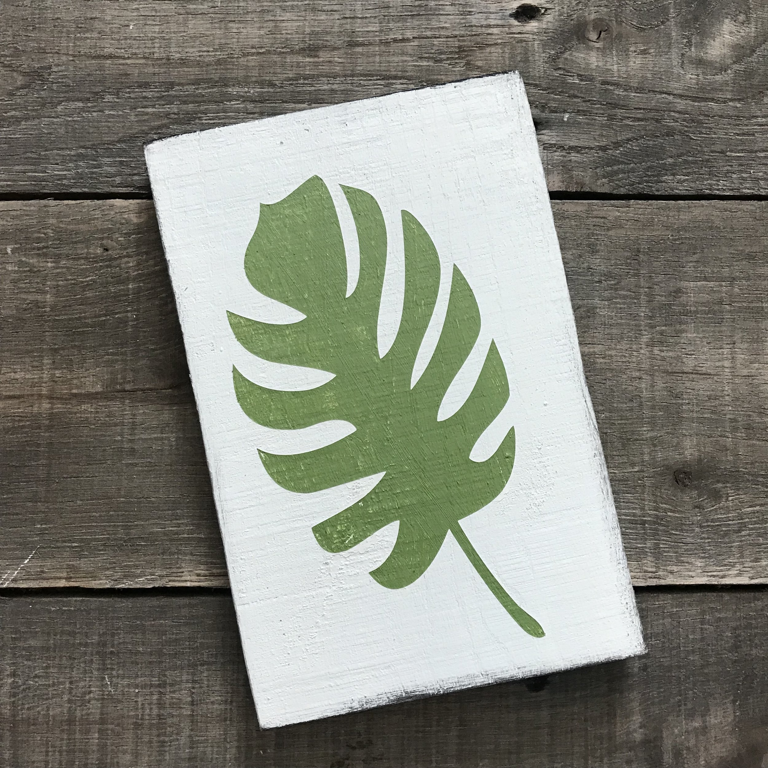 Green Palm Leaf sign, green palm frond