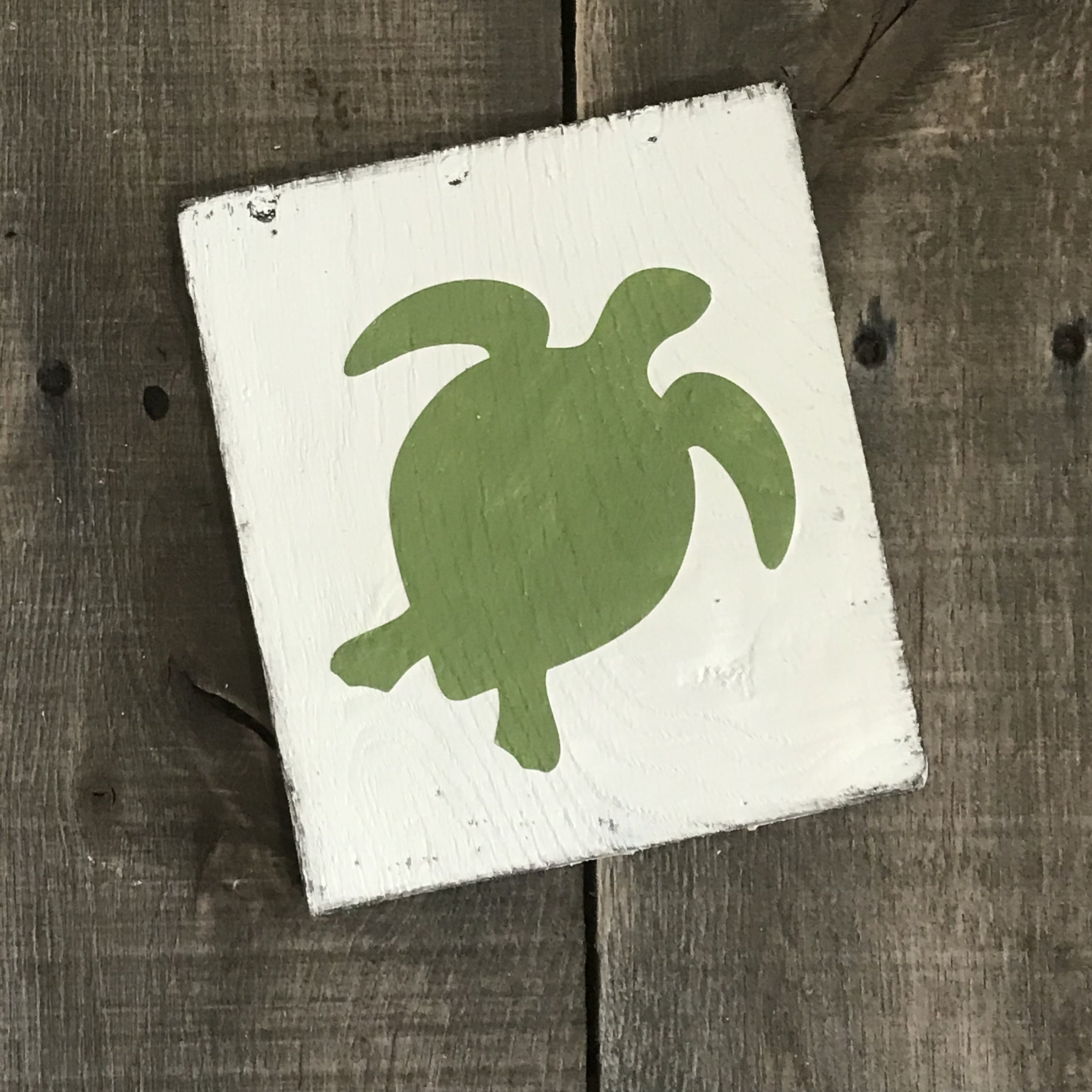 Green turtle sign
