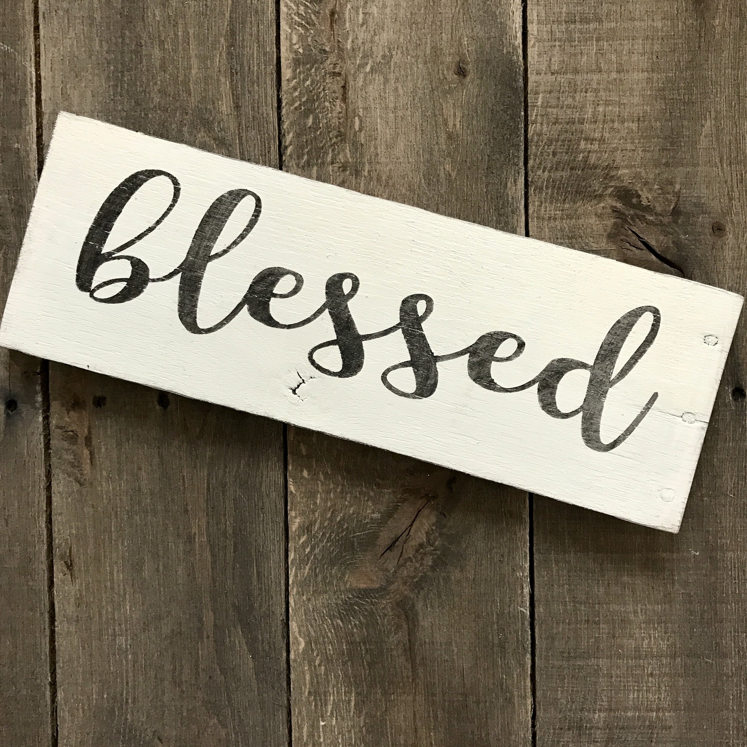 Blessed sign, inspirational sign, spring signs, Easter Decor, Easter sign, spring decor, Farmhouse spring sign, Farmhouse wall decor