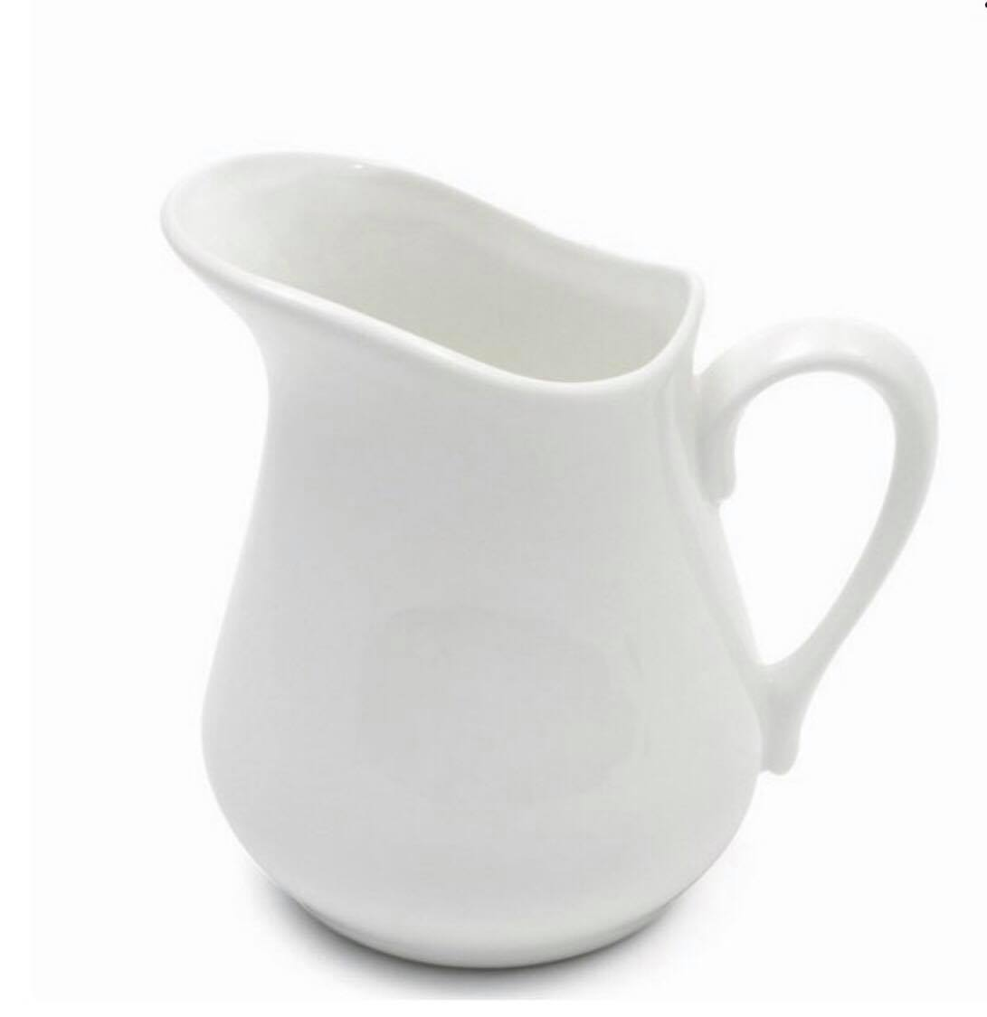 Classic white pitcher