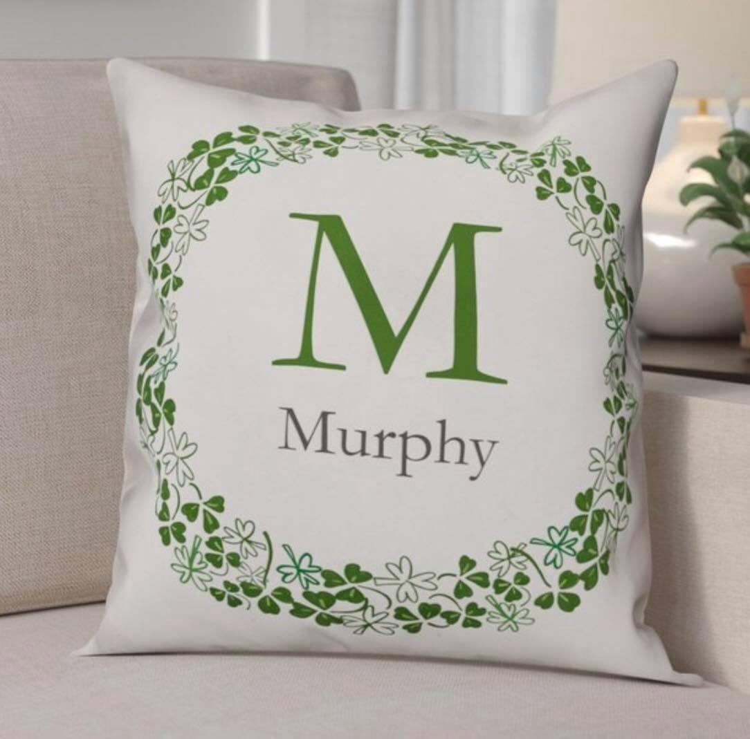 Clover Family Name Pillow