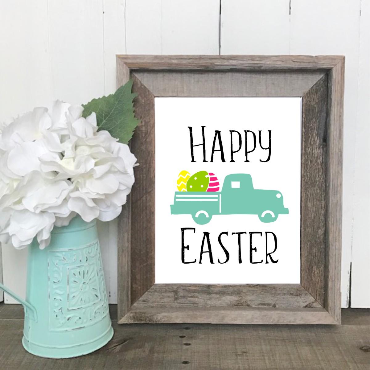 Easter Egg Truck Printable