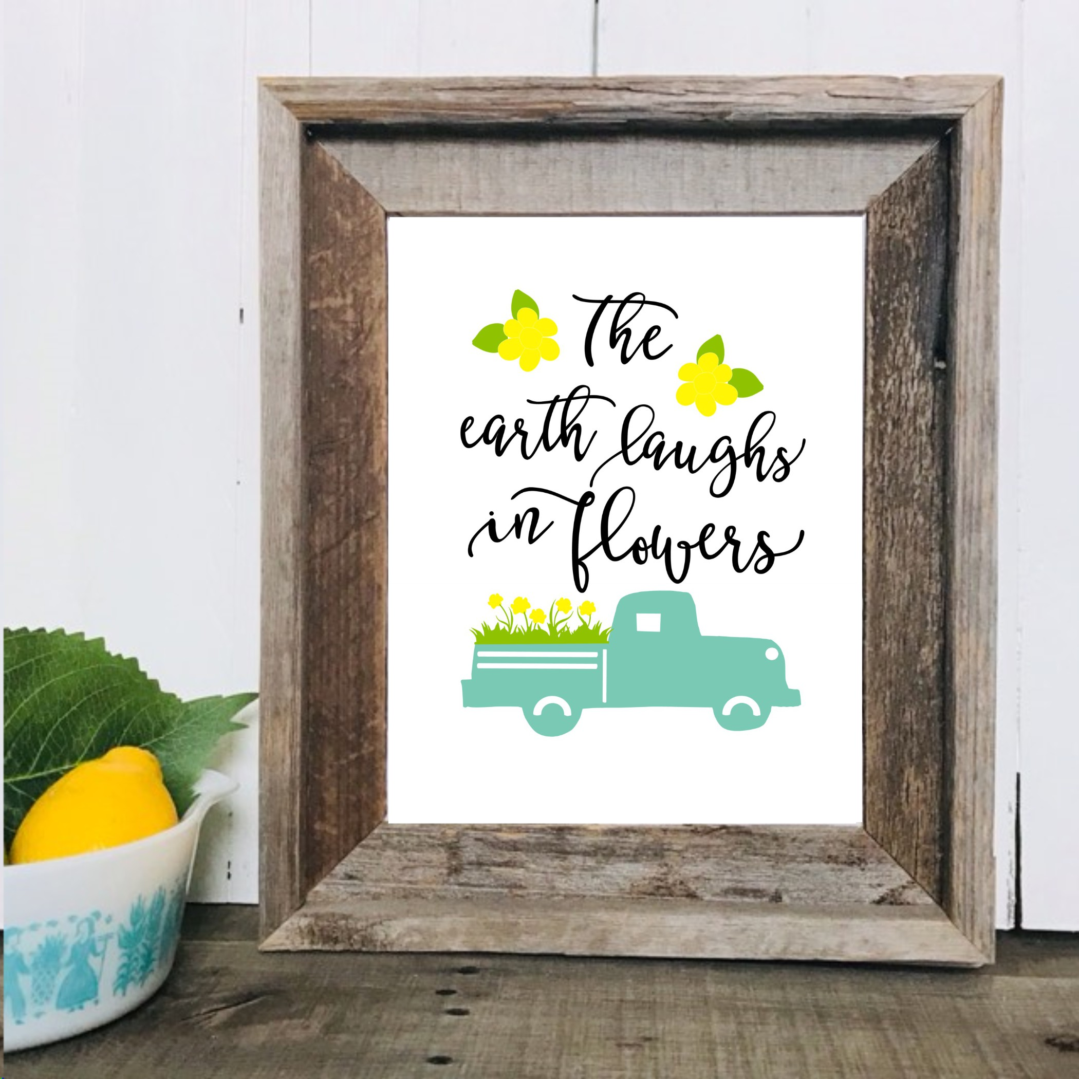 Spring truck Printables