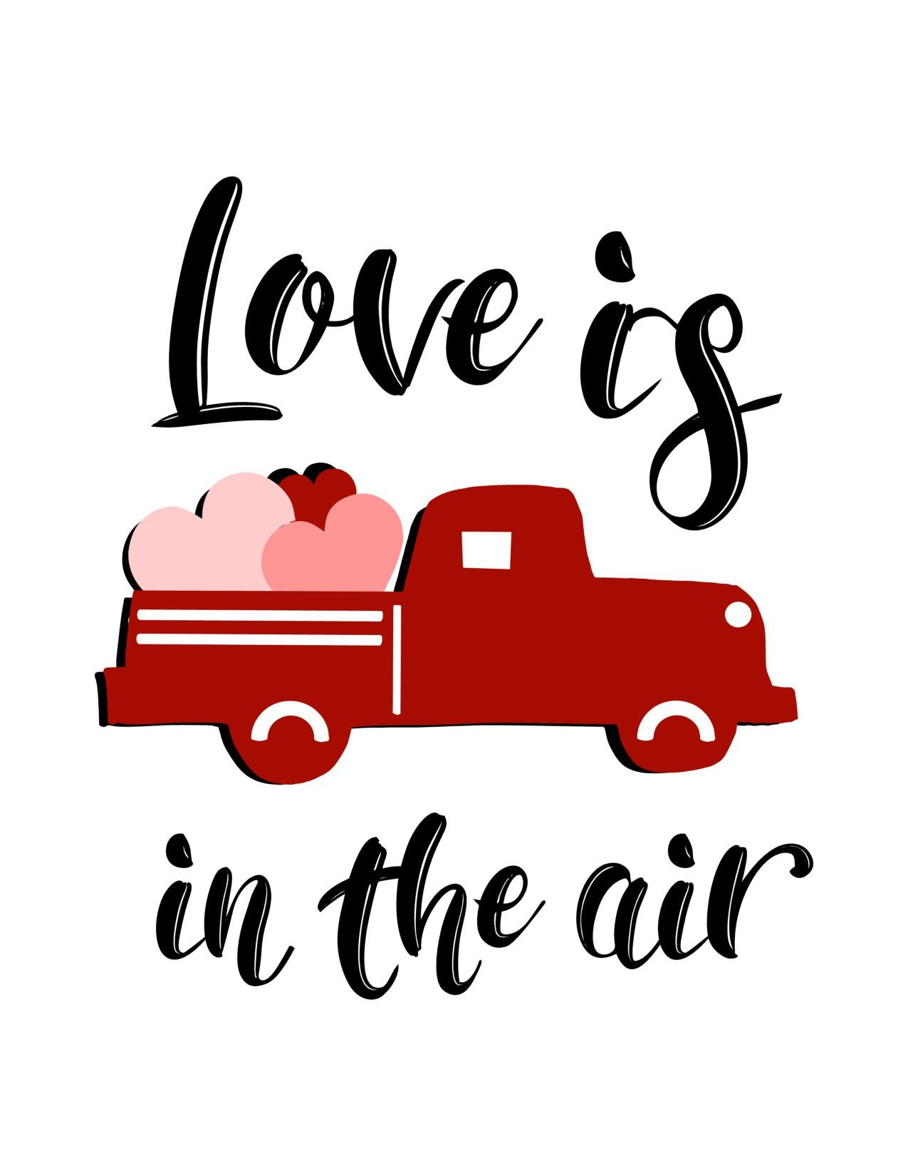 Valentine Truck Printables