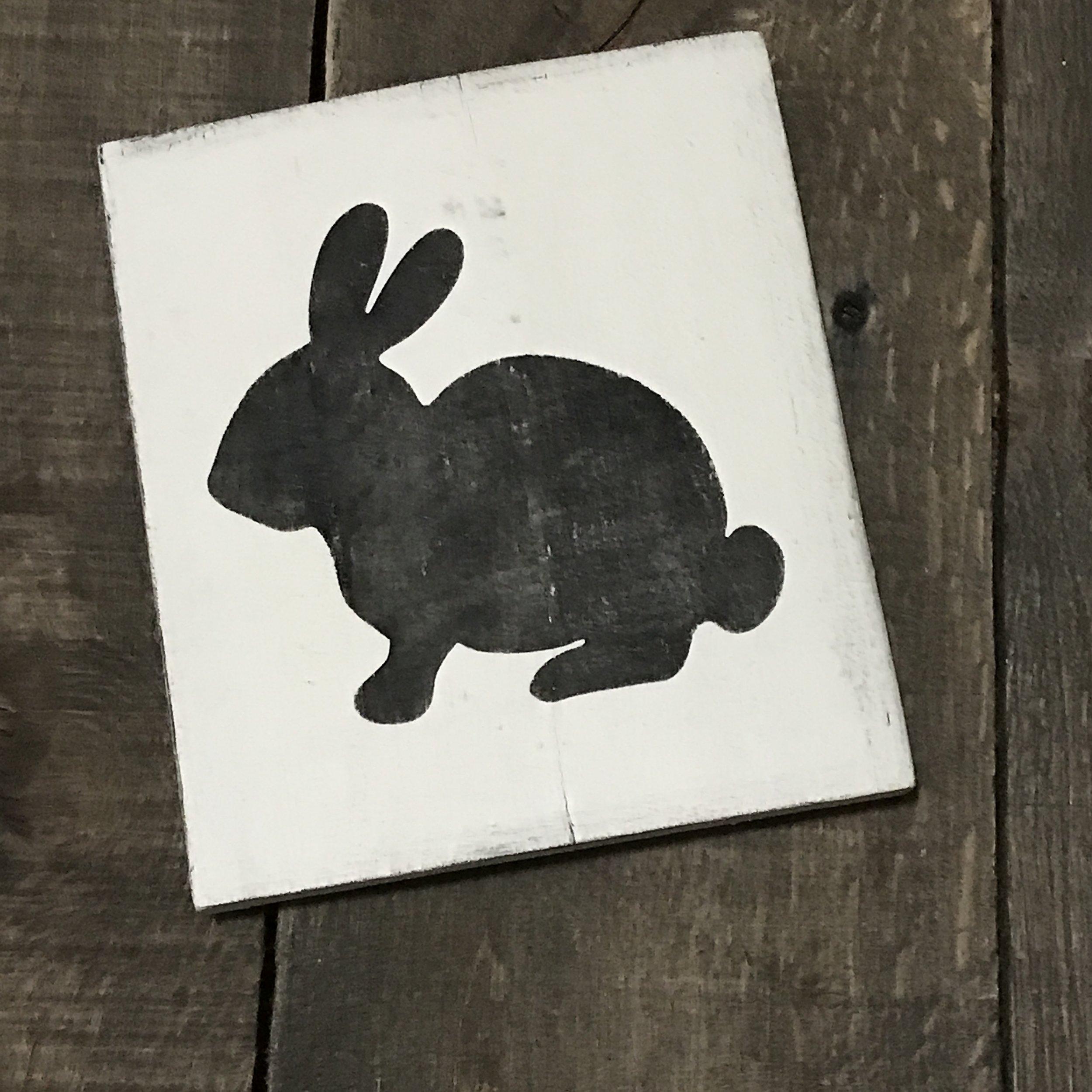 black bunny vintage sign