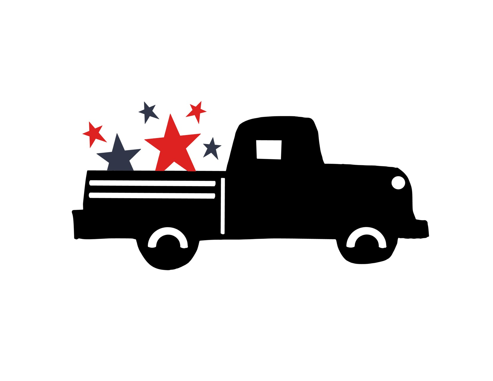 Anchored Soul Black Patriotic truck