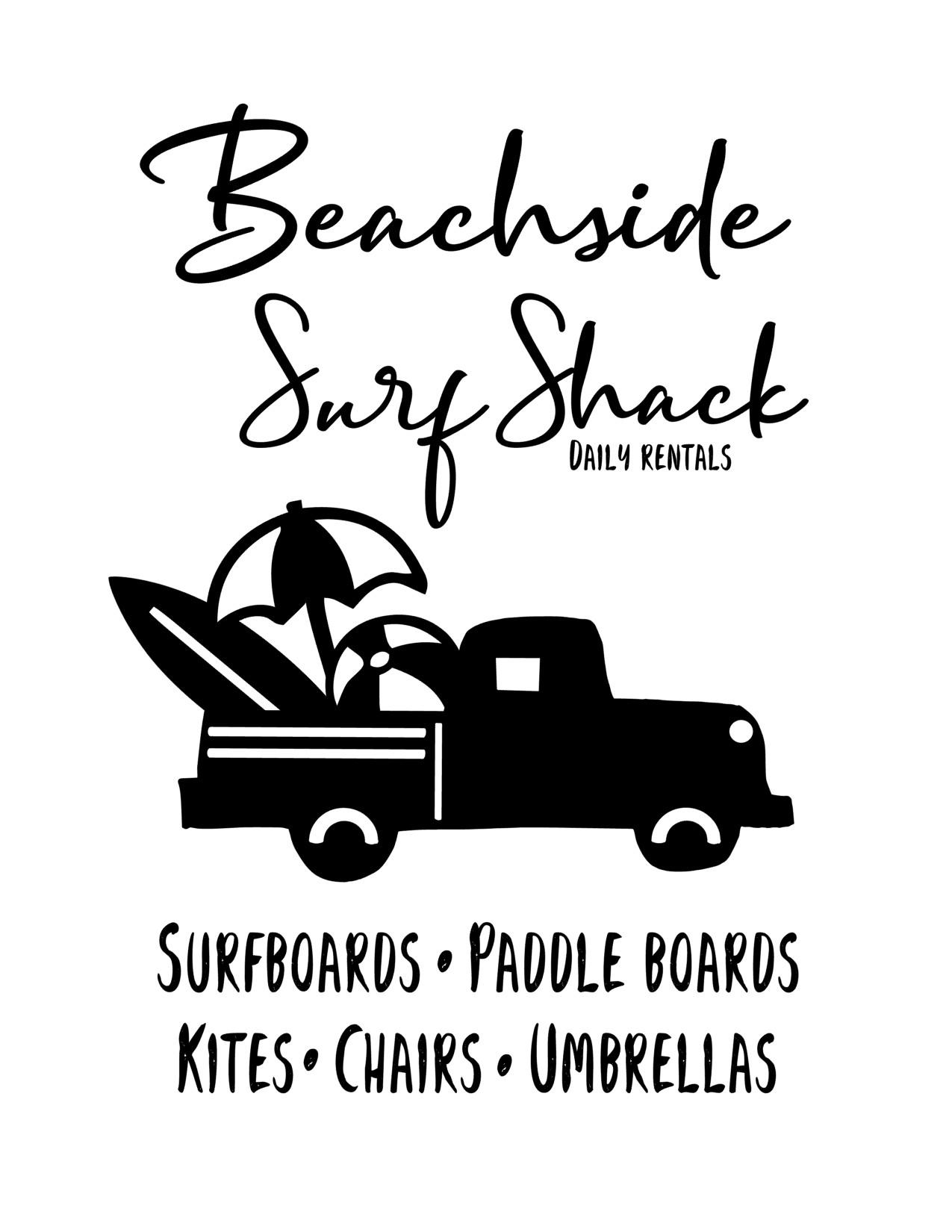 Anchored Soul Surf Shack Black Truck