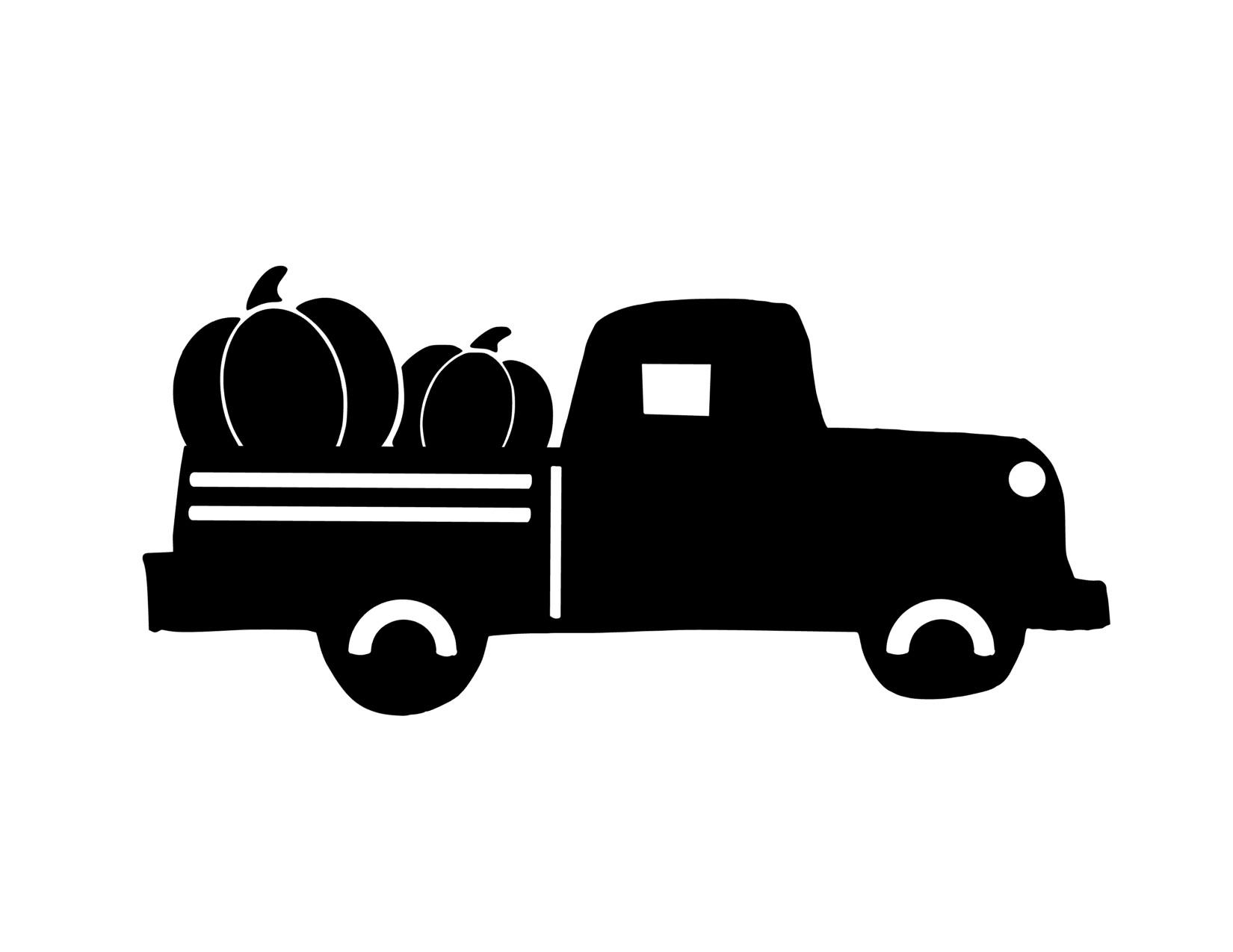 fall truck printable black just truck.jpg