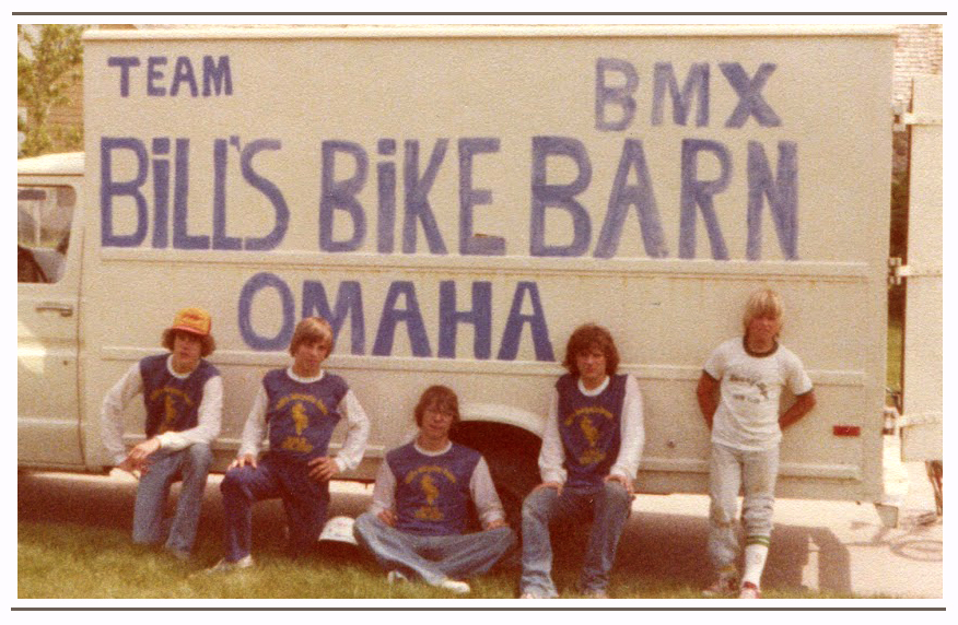 The Bills Bike Barn Team of Omaha, NE. We thought this truck made us look faster!