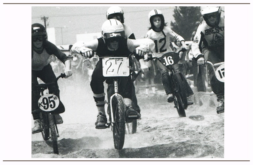 Brad (#27) racing the 1976 NBL Gateway Nationals in St. Louis, MO.