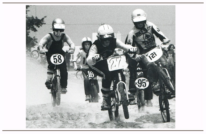 Brad (#27) dicing through the whoops at the 1976 NBL Gateway Nationals in St. Louis, MO