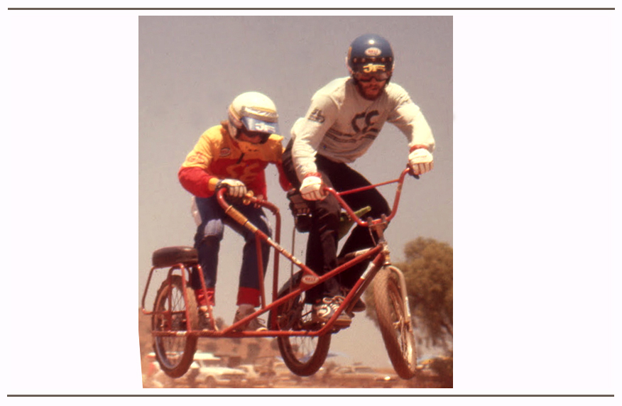 Brad Fanshaw and Scot Breithaupt tackle the legendary Rancho San Diego downhill track on a sidehack