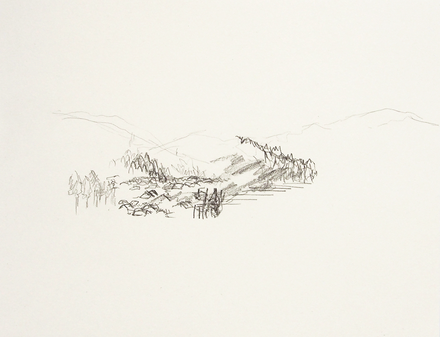 Hokuriku 1   graphite on paper  2016