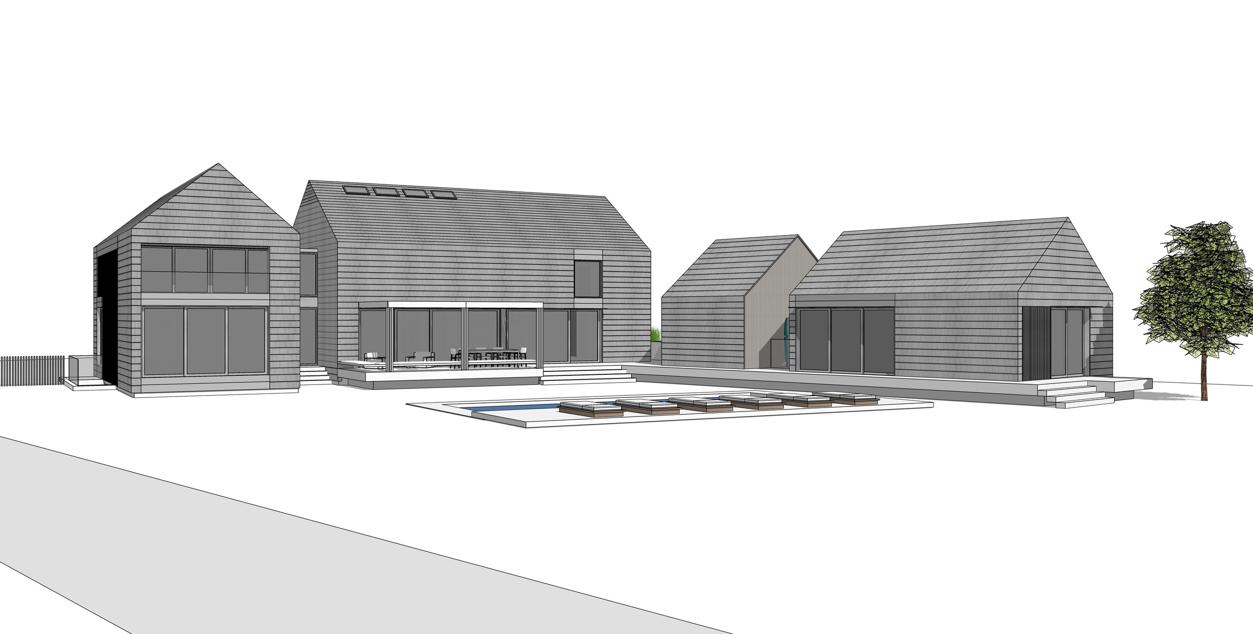Bridgehampton Modern Farmhouse - Under Construction