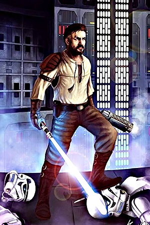 Kyle Katarn from the Jedi Outcast Expanded Universe Series in Star Wars