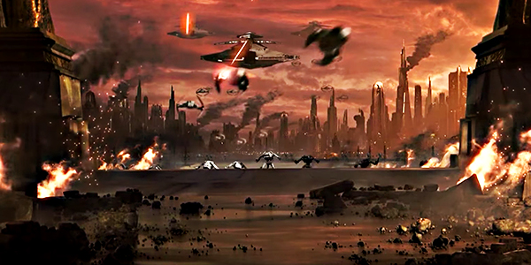 Battle on Coruscant from Star Wars The Old Republic's game trailer