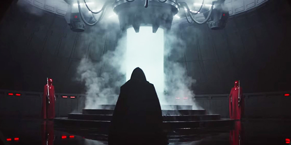 Rogue One Darth Vader in the Bacta Tank at his castle on Mustafar