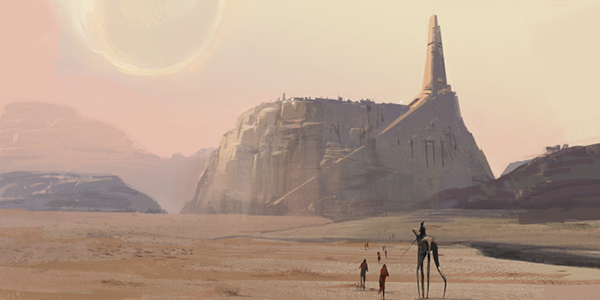 Jedha Concept Art from Star Wars Rogue One