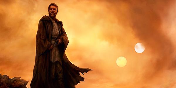 Obi Wan Kenobi art image of the Jedi on Tattoine after Episode III